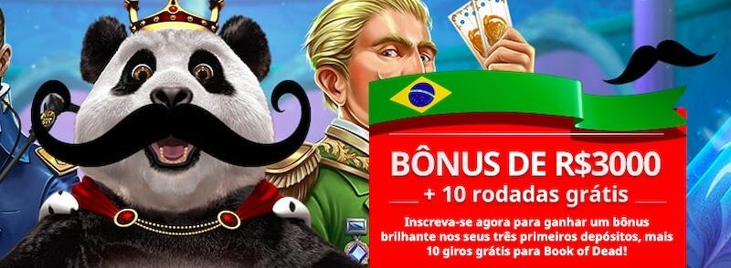 Bônus de boas-vindas Royal Panda