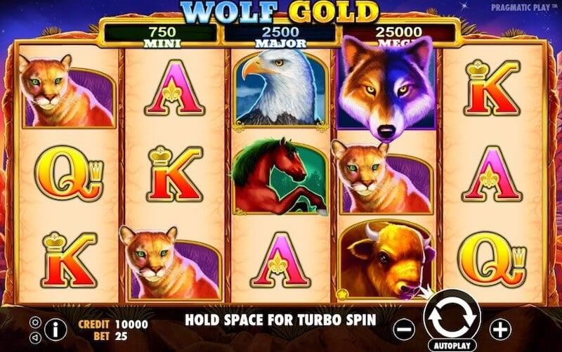 Wolf Gold análise slot